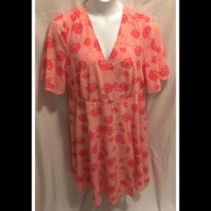 Size 16 Torrid Dress Pink Floral